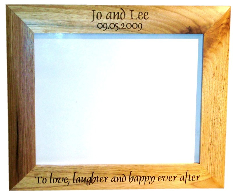 "Solid Oak photo frame 10"" x 8"""
