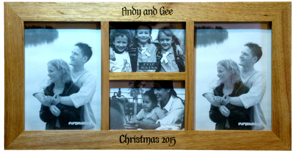 Oak photo frame collage.
