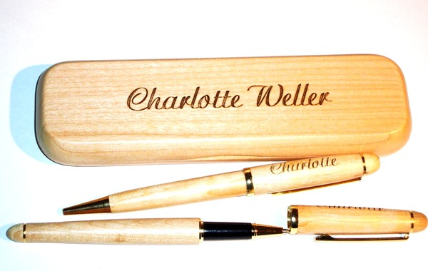 Maple Classic Double Pen Box & Pens