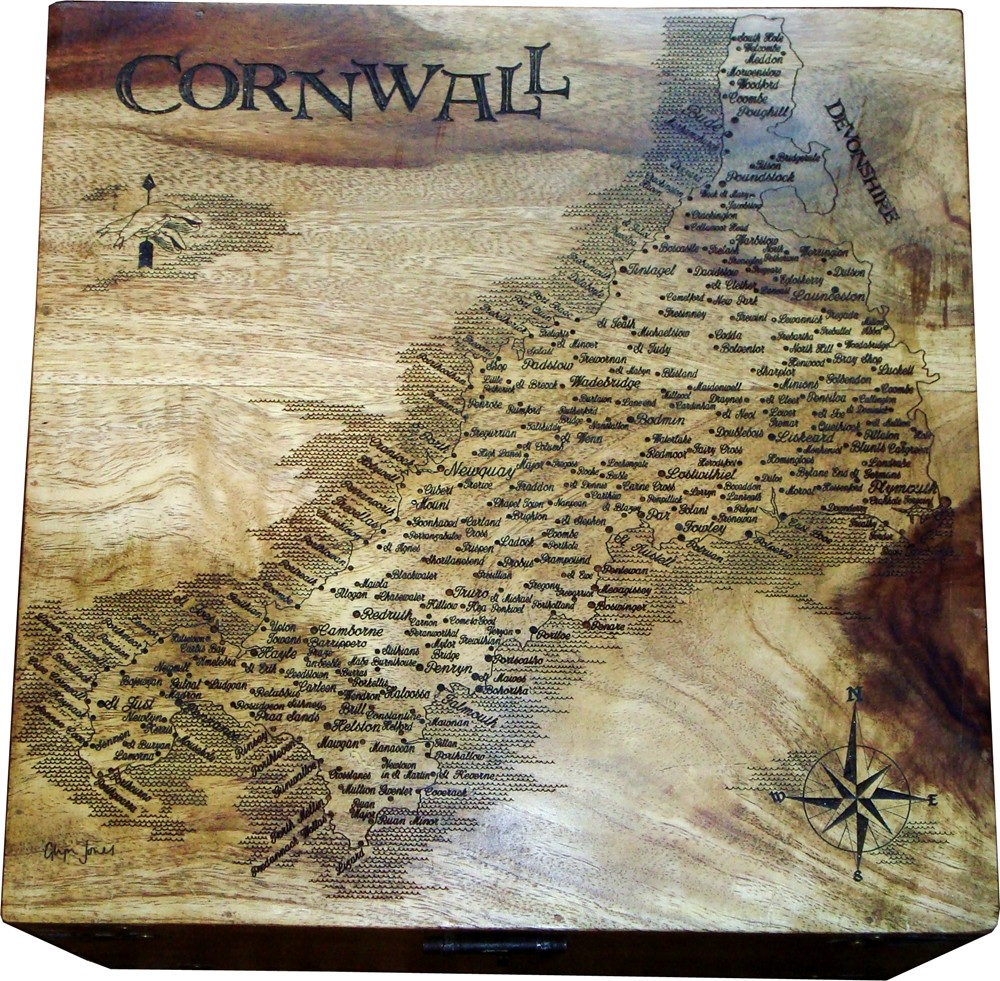 County Map Keepsake Box (Large)