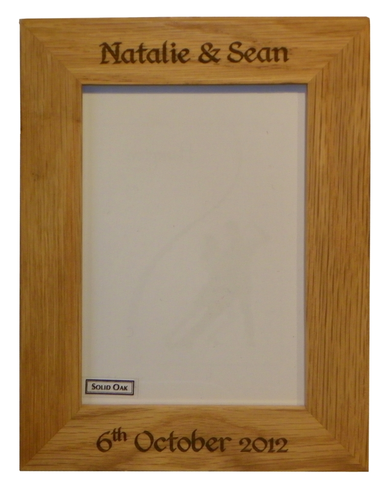 """England"" Oak photo frame 7"" x 5"""