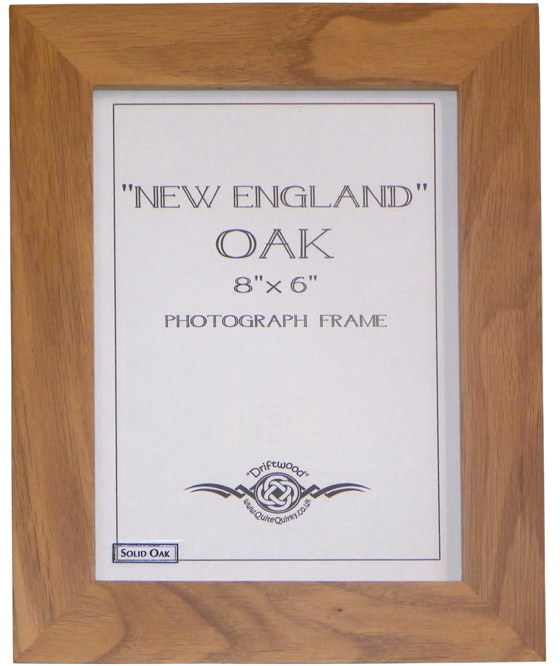 """England"" Oak photo frame 8"" x 6"""