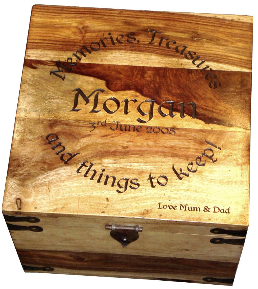 "Large Personalised Memory Box 13"" x 13"" x 10"""