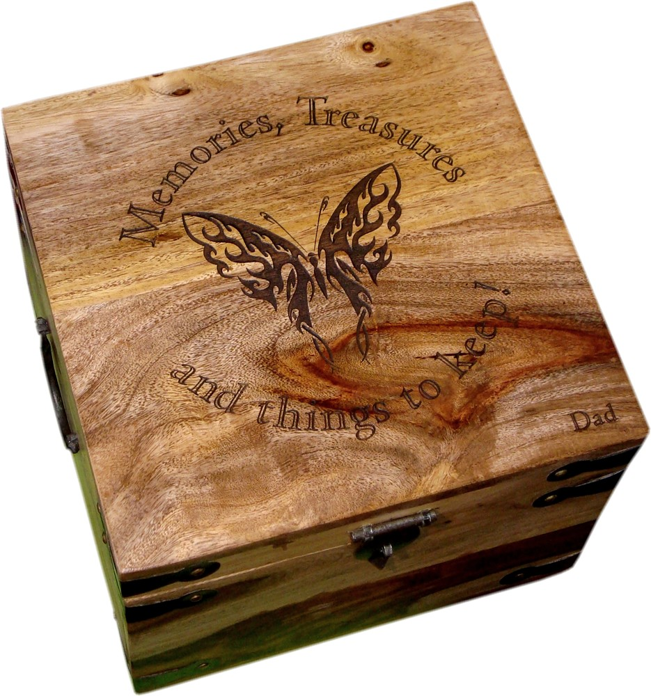 Medium Personalised Wooden Keepsake Box