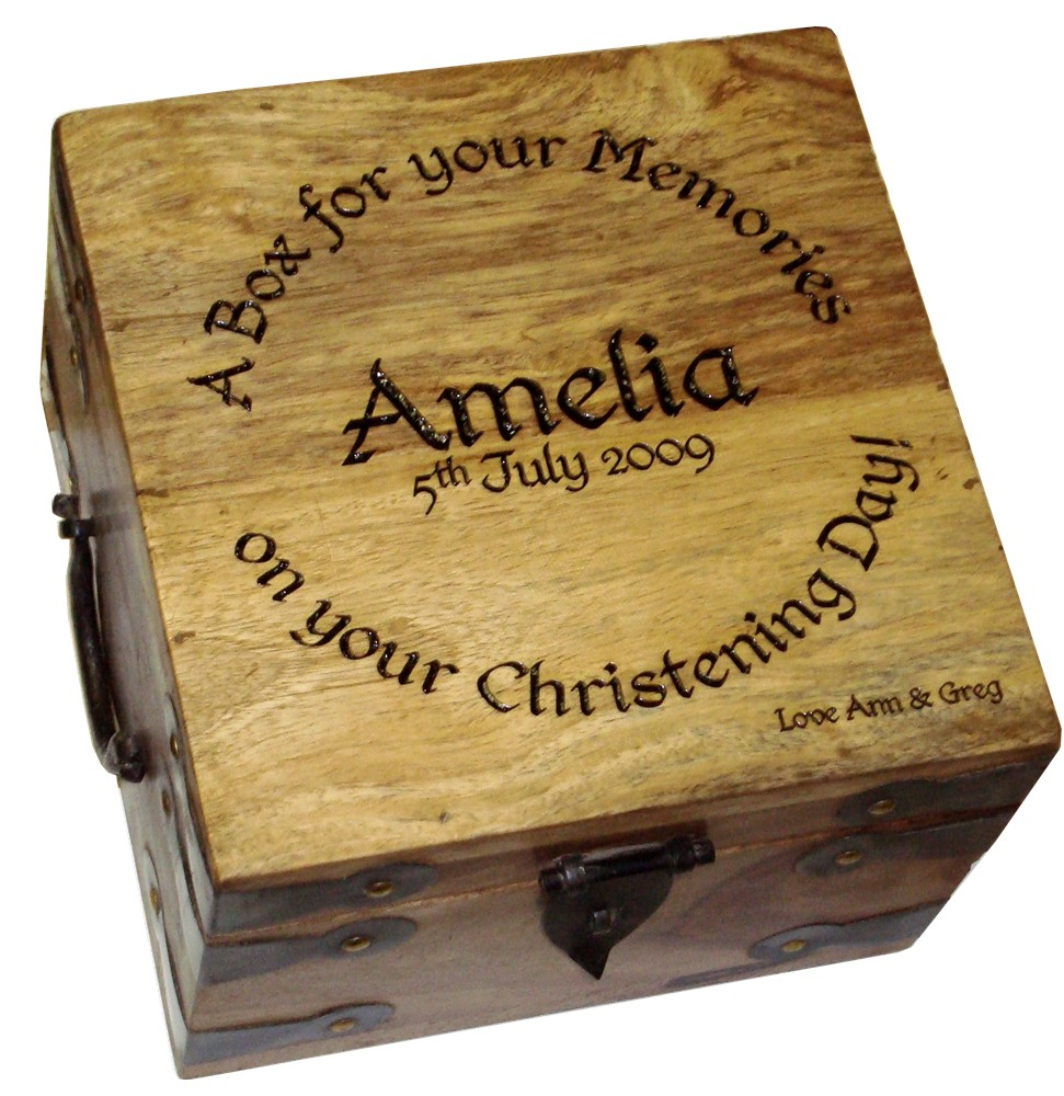 "Small Personalised Memory Box 7"" x 7"" x 5"""