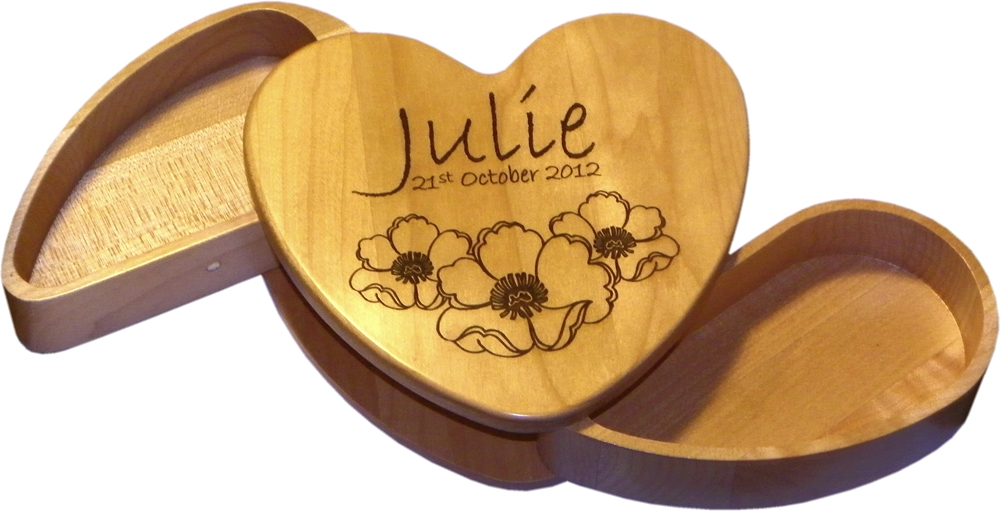 Maple Heart Keepsake Box