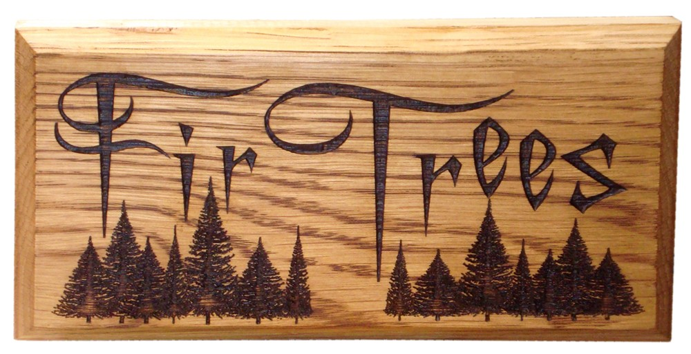 "Solid Oak House Sign 8"" x 4"""