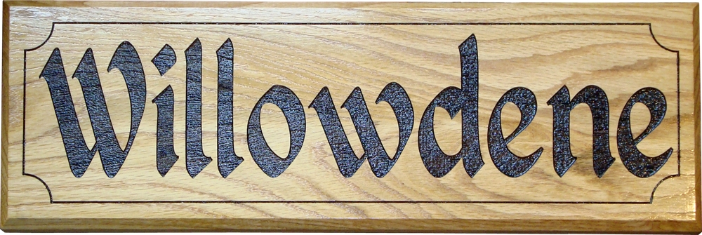 "Solid Oak House Sign 18"" x 8"""