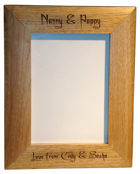 "Oak photo frame 7"" x 5"""