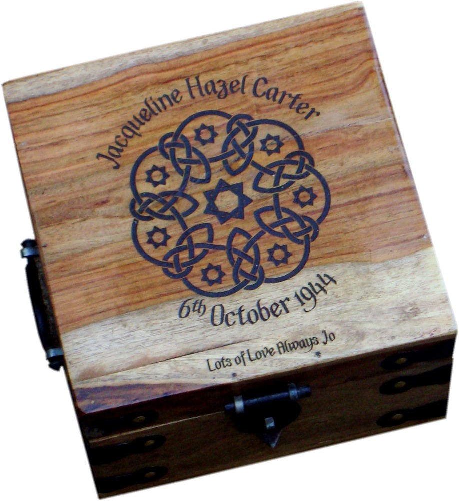 "Medium Personalised Memory Box 10"" x 10"" x 6.5"""