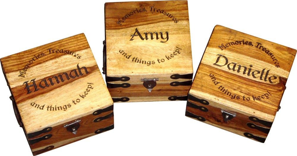 Small Personalised Memory Boxes (Set of 3)