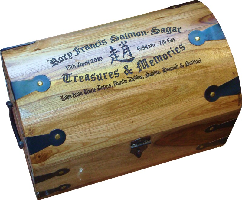 "Treasure Chest (Small) 9"" x 5.5"" x 5.5"""