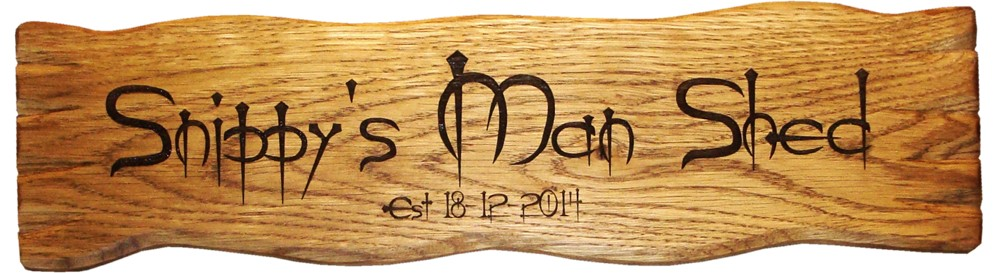"Solid Oak Rustic House Sign 15"" x 3"""