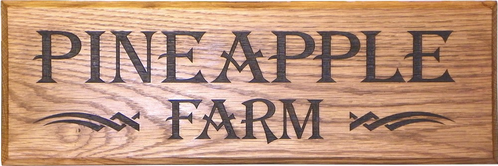 "Solid Oak House Sign 18"" x 6"""
