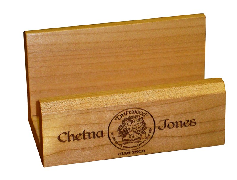 Maple Desk top Business card holder