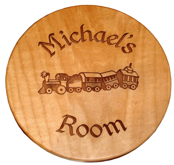 Maple Circular plaque.