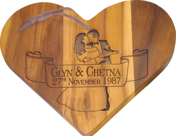 Heart Chopping Board (small)